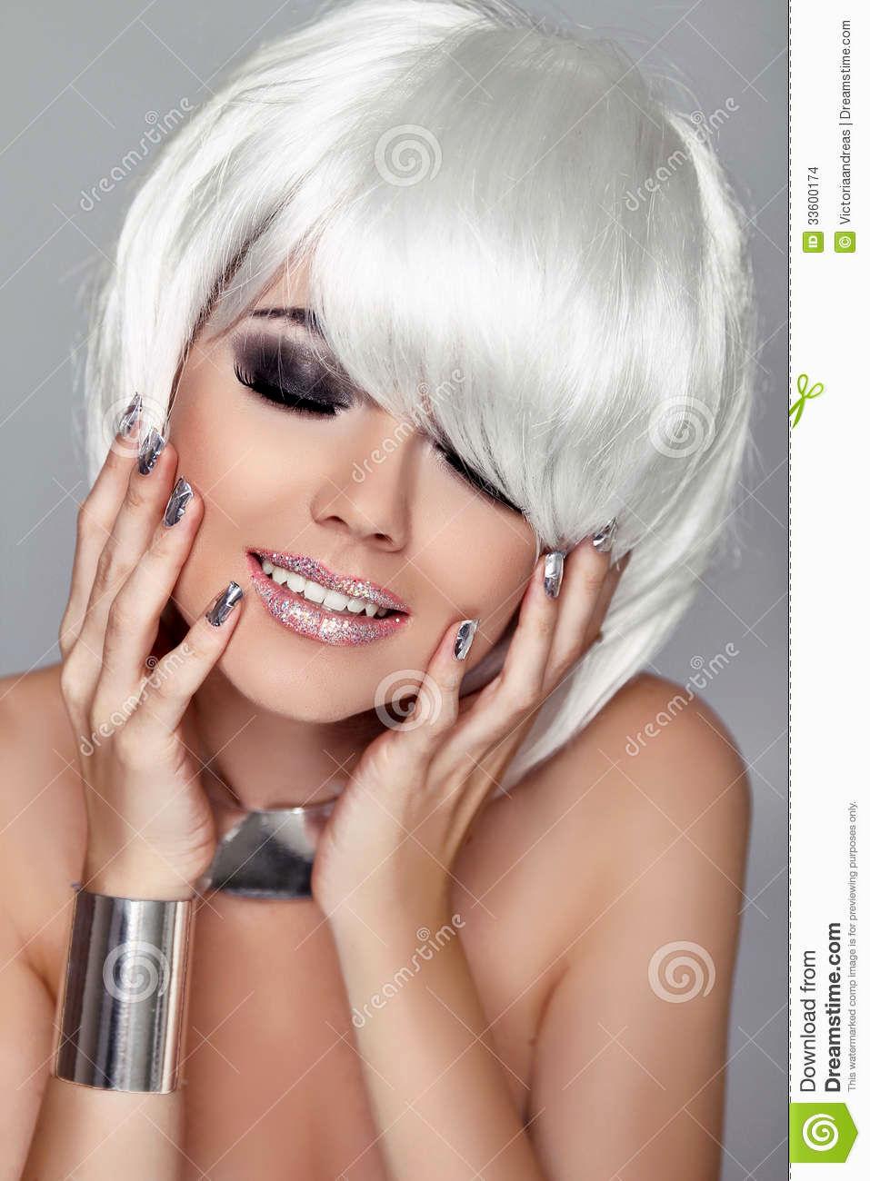 lovely corte em cabelo curto retrato-Beautiful Corte Em Cabelo Curto Coleção Padrão