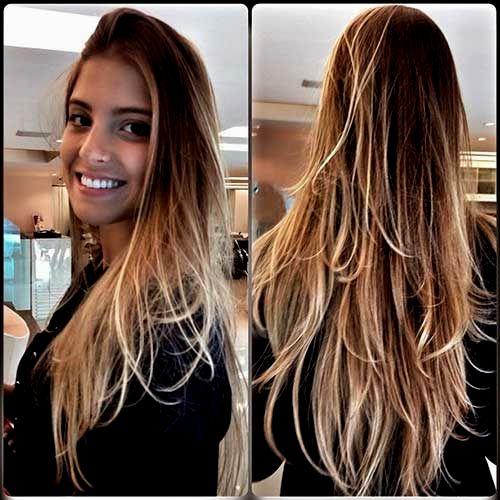 top corte cabelo longo design-Fresh Corte Cabelo Longo Foto