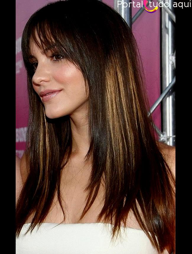 top cortes de cabelo feminino longo coleção-Lovely Cortes De Cabelo Feminino Longo Imagem