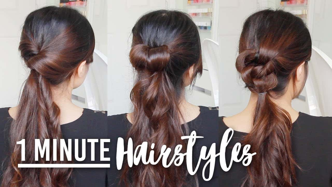 1 Minute Running Late Hairstyles | Quick & Easy Hair Tutorials 14