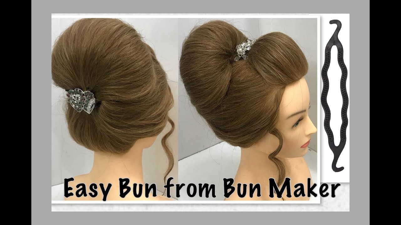 2 Most Beautiful Hairstyles from Bun Maker: Easy Wedding Hairstyles 1