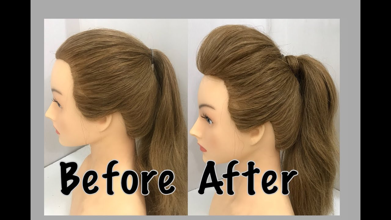2 Ways to a Ponytail with Puff : Easy Hairstyles 12