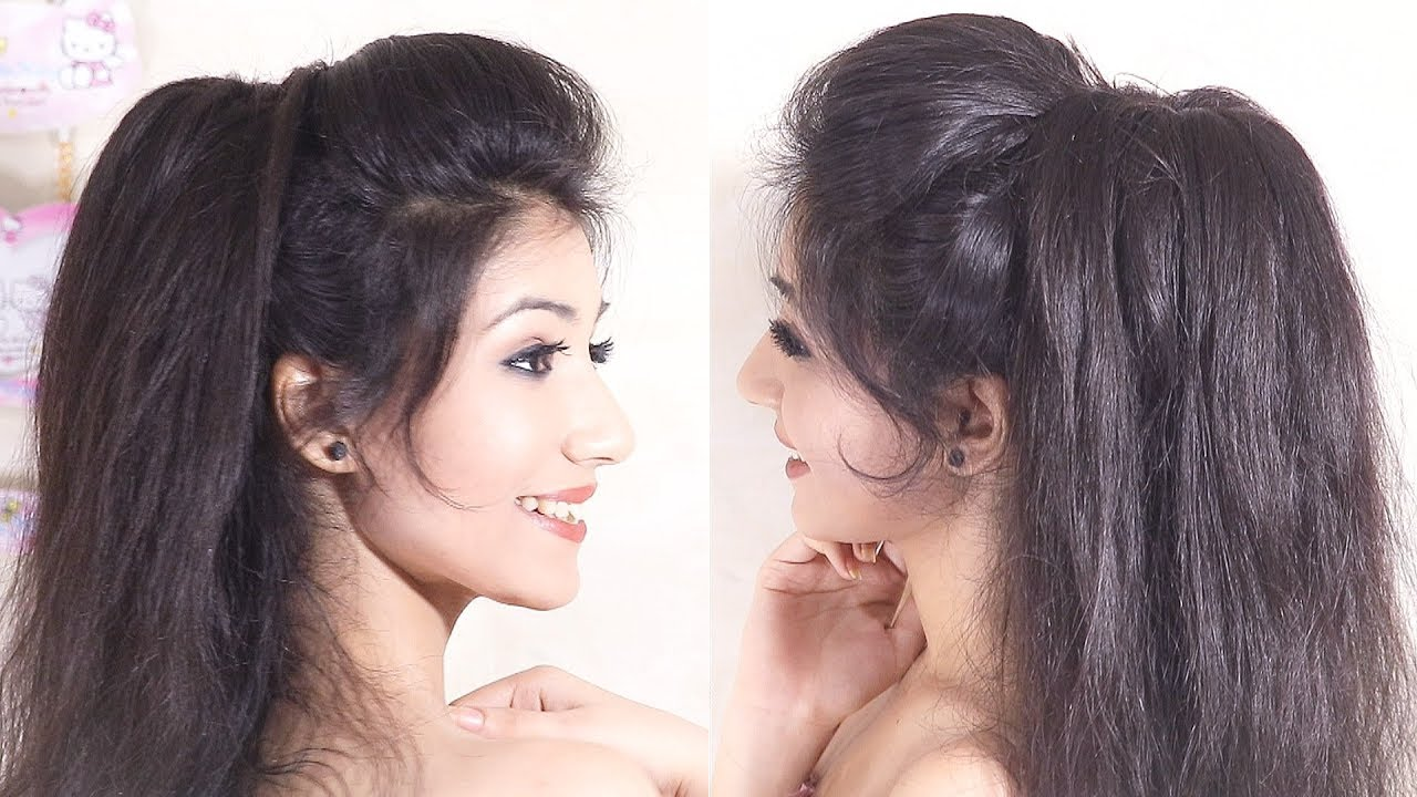 Amazing VOLUMIZED Ponytail Hairstyle | Easy Prom Ponytail Hairstyle | Messy Ponytail 4