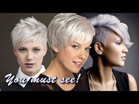 Short pixie haircuts for gray hair | Latest hairstyle & color ideas 2019 12