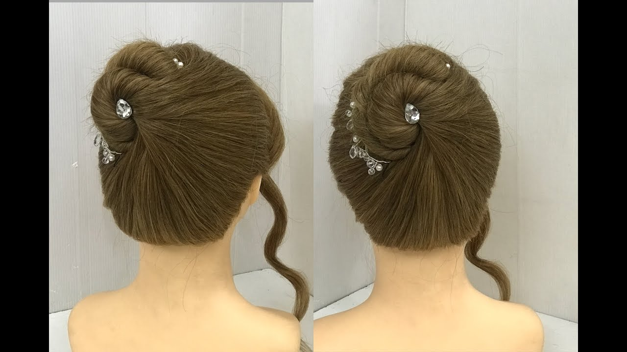 Beautiful Bun with Single Twist : Easy Hairstyles 10