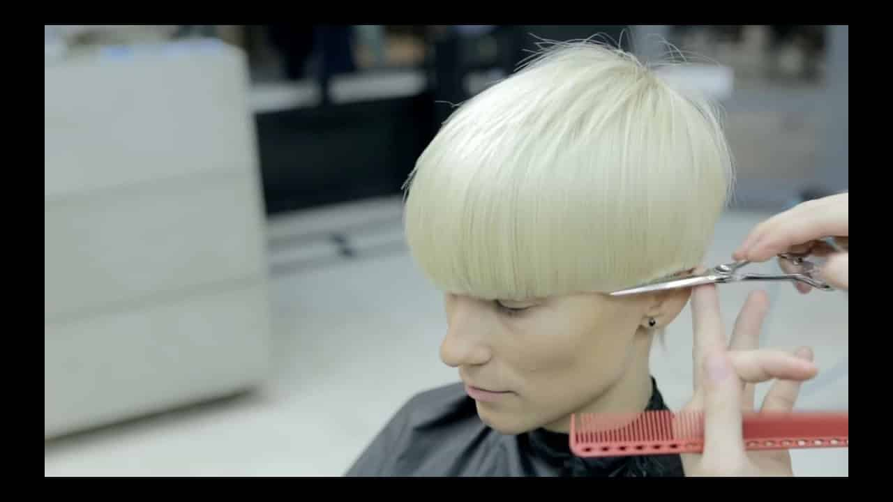 from long to short round shape haircut 13