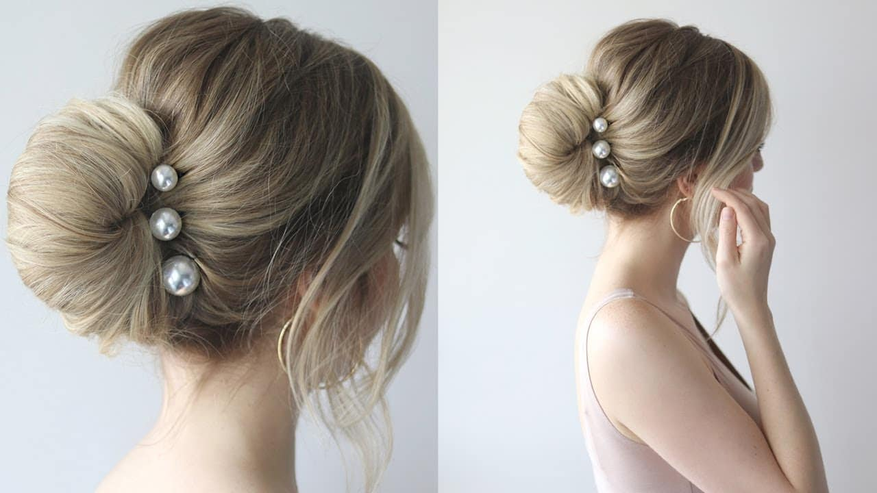 HOW TO: SIMPLE BUN | PROM HAIRSTYLES 2018 11