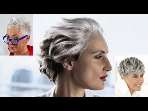 Short Haircut for Older Women & Hairstyles Over 50 for Spring/Summer 2018 - 2019 14