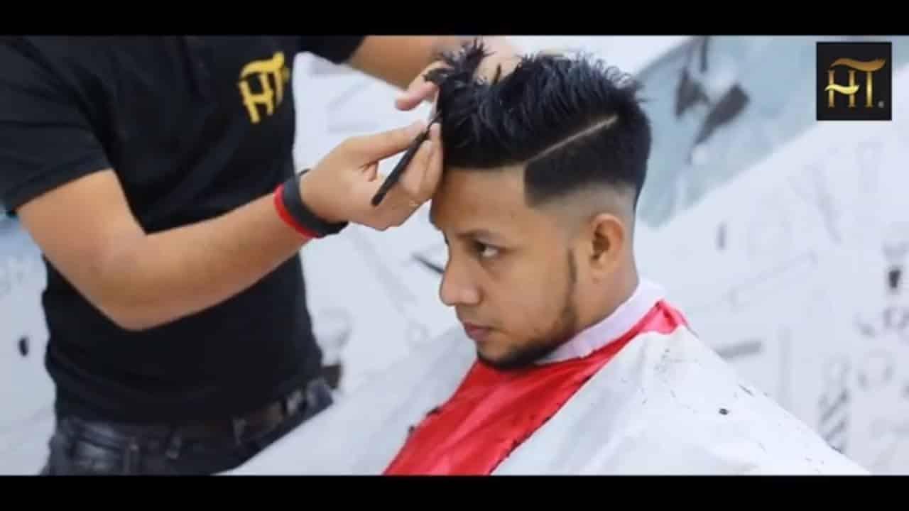 Skin Fade Textured Quiff Haircut & Hairstyle | Men's Summer Haircut 2018 15