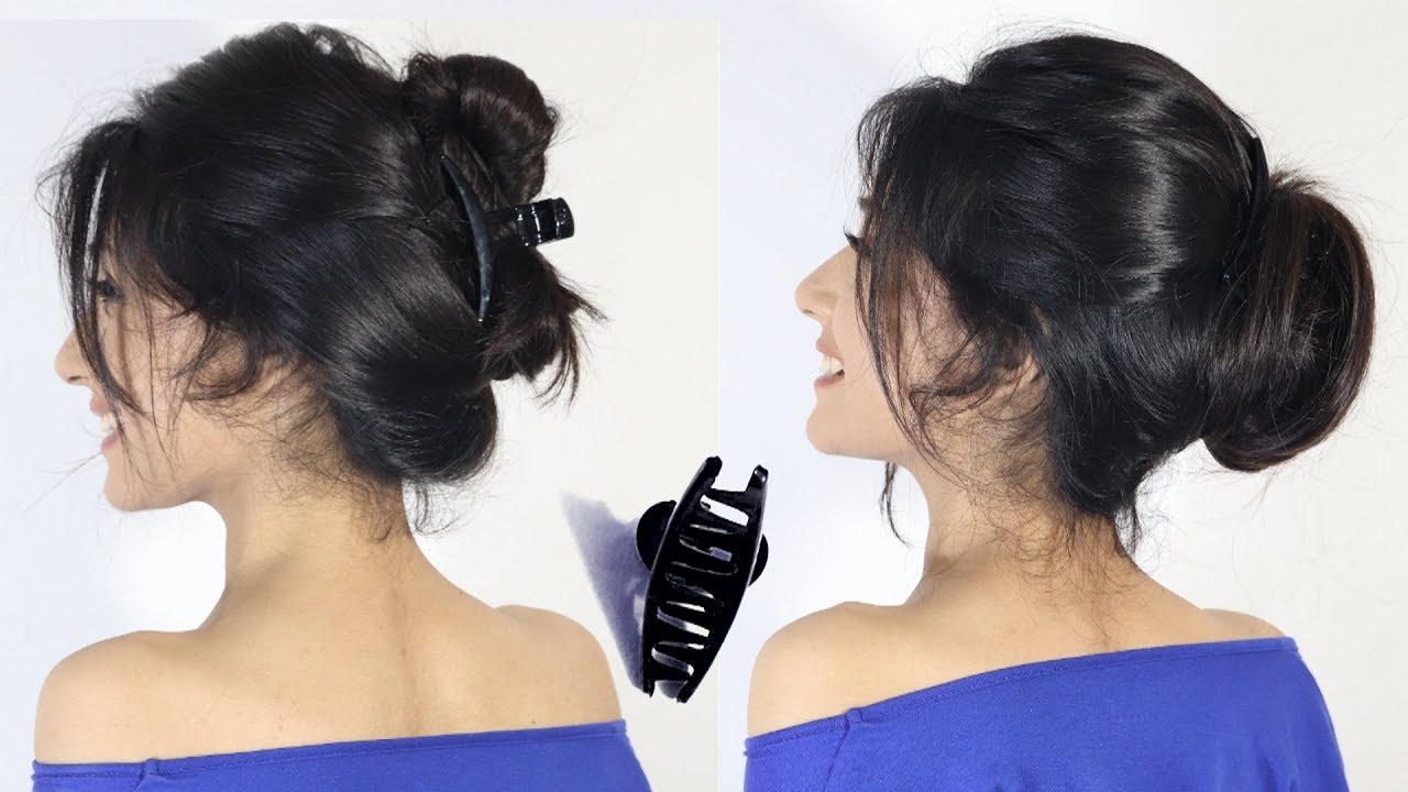 2 easy hairstyle bun with clutcher | new bun hairstyles | easy Hairstyle | hair style girl 15