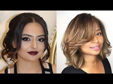 2018's Trendy Haircuts for Plus-Size Women with Full Round Faces : Short + Medium + Long Hair Ideas 14