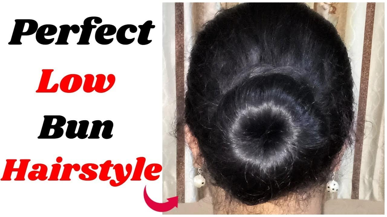 PERFECT LOW BUN || Hairstyle for wedding/party/work || hair style girl || Cute Hairstyles 4