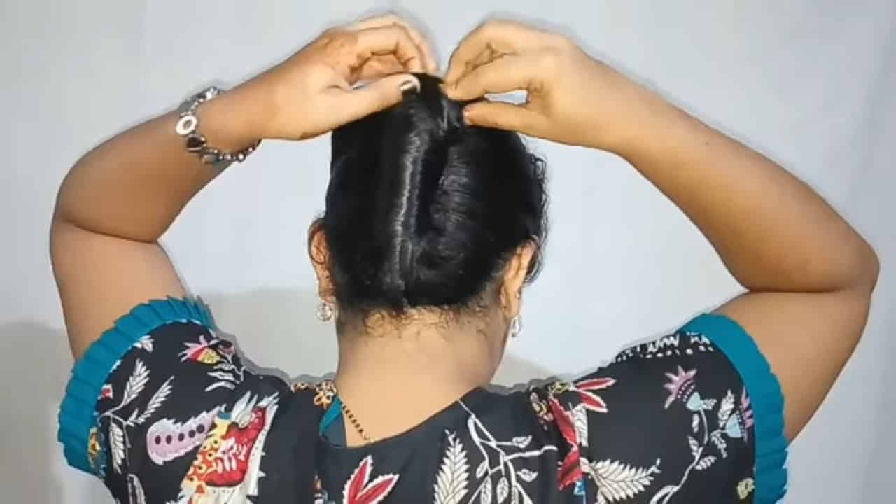 French twist braided bun hairstyle |french braid hairstyles |braided hairstyles | Hairstyle 11