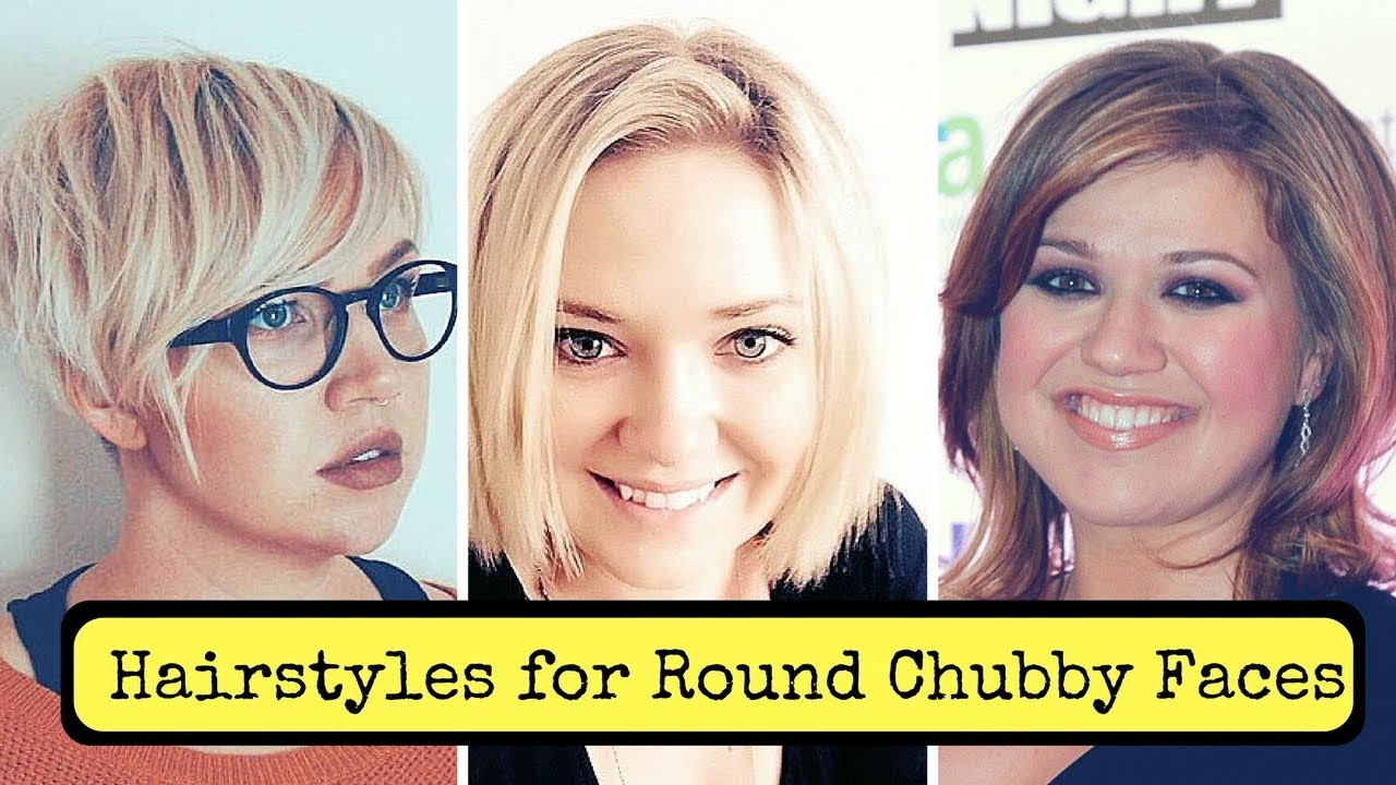 Hairstyles for Round Chubby Faces Women (2018) - Cute Fat Short Medium Long Haircuts 13