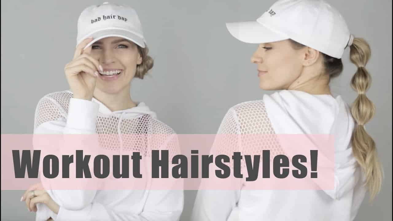 Easy & Quick Workout Hairstyles Tutorial - KayleyMelissa 11