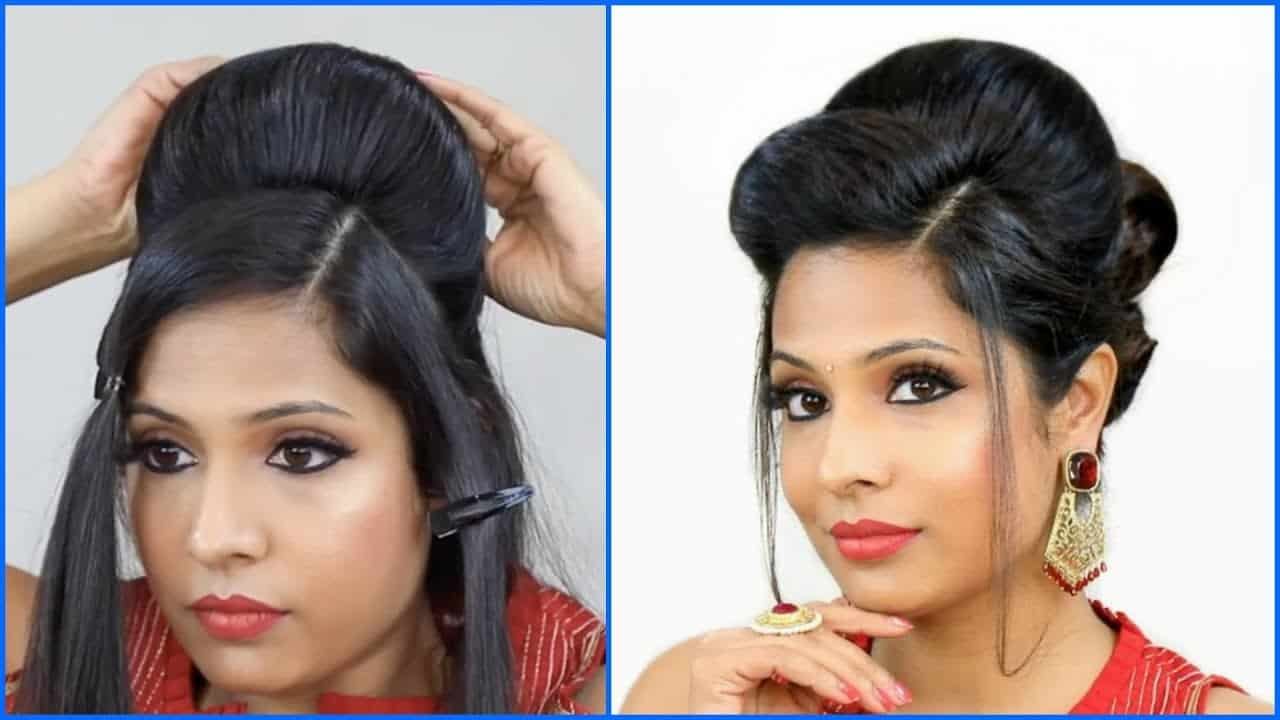 Perfect High Puff Hairstyle | Indian Wedding/party/Function | Shruti Arjun Anand 2