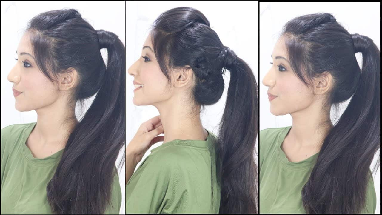 3 Simple & Cute Ponytail Hairstyles For Indian School & College Girls 10