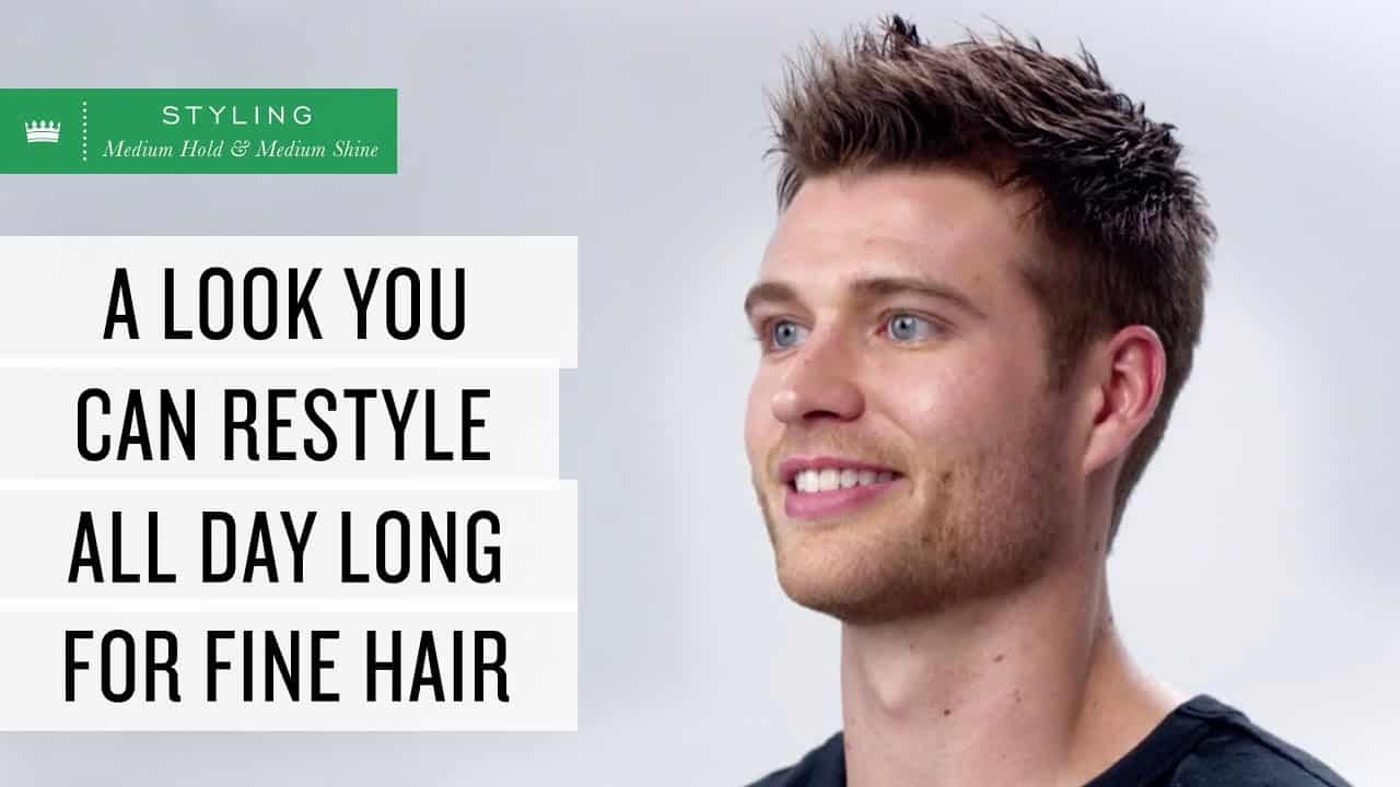 Fine Hair you can restyle all day | Men's Hairstyle 3