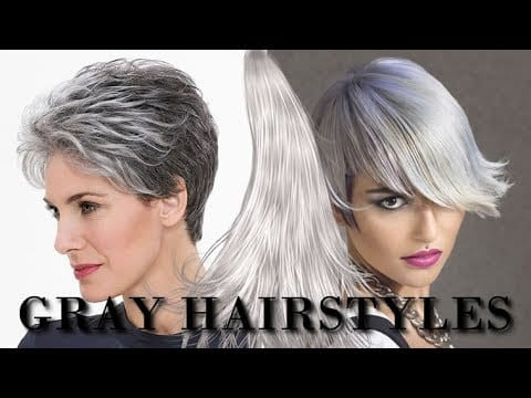 Gray Hair Colors and Hairstyles for 2019 | Short, Medium or Long Hair cut ideas 14