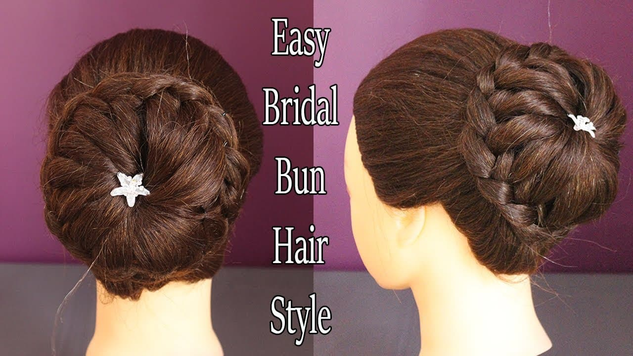 Latest Bridal Bun Hair Style|| wedding hairstyles || wedding juda hairstyle || juda hairstyle 2018 1