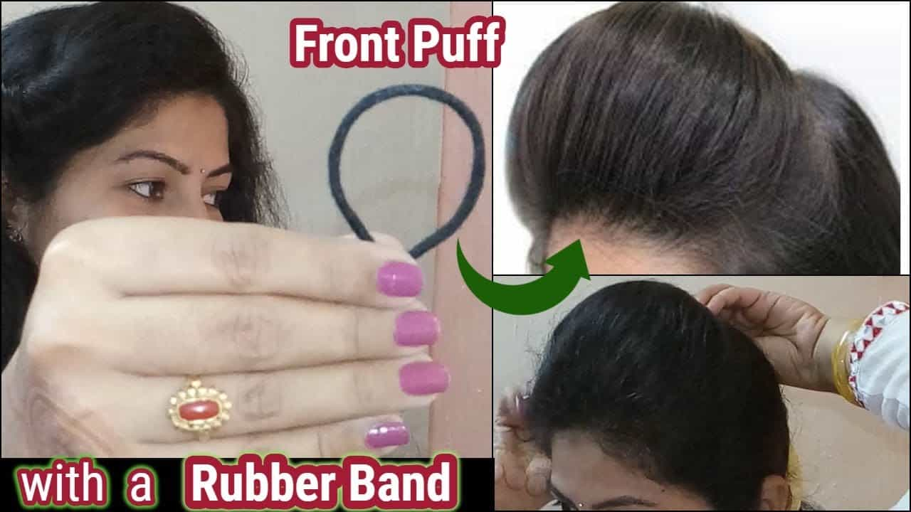 1 min front puff for thin hair/easiest way to make front puff | Indian YouTuber Sangeeta 13
