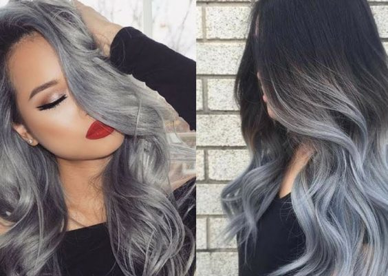 2018 Most Popular Hair Color Trend - Gray Hair 2
