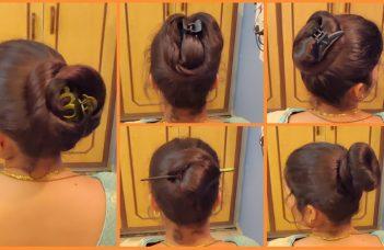 Anjali's Bun Hairstyles Part 14 | 5 Different Bun Hairstyles | How to Bun | Hairstyle Tutorial 8
