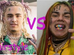 Lil pump hairstyle vs Tekashi 6ix9ine hairstyle (2018) 3