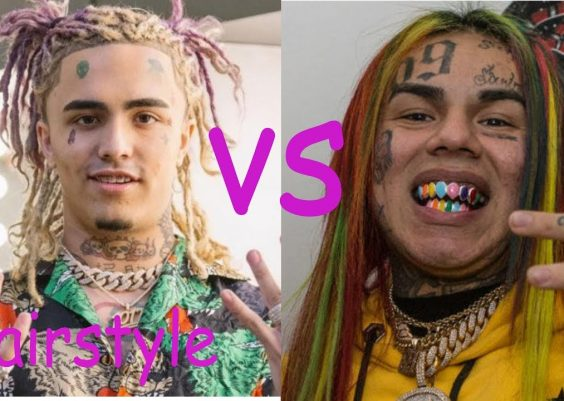 Lil pump hairstyle vs Tekashi 6ix9ine hairstyle (2018) 12