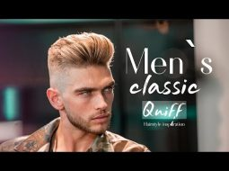 Men`s classic quiff . BIG VOLUME QUIFF  . Mens Haircut & Hairstyle 2