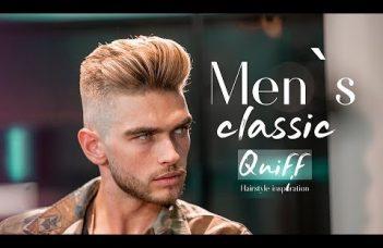 Men`s classic quiff . BIG VOLUME QUIFF  . Mens Haircut & Hairstyle 7