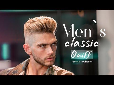 Men`s classic quiff . BIG VOLUME QUIFF  . Mens Haircut & Hairstyle 11