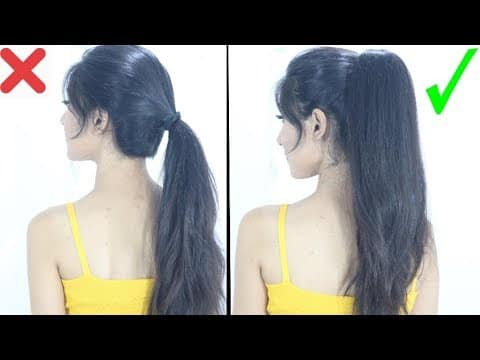New High Ponytail Hairstyle For School, College, Work | Long Ponytail 8