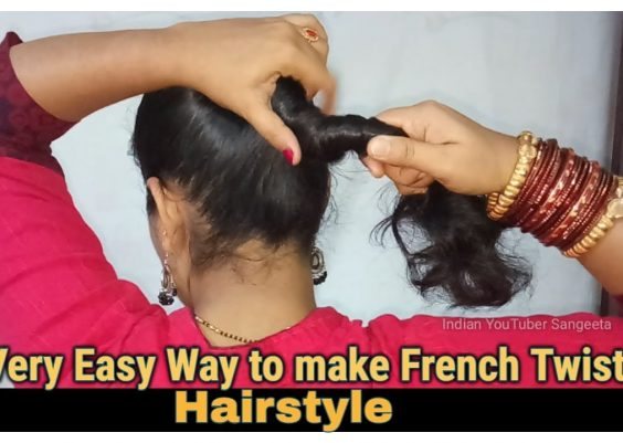 Very Easy Way to make French Roll/French Twist/French Bun Hairstyles for Short,medium and Long Hair 14