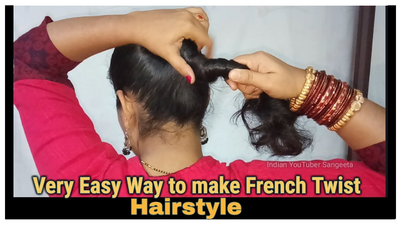 Very Easy Way To Make French Roll French Twist French Bun Hairstyles
