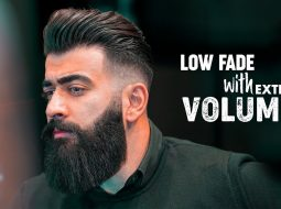 Low fade & Slicked back with Volume. Men´s hairstyle inspiration 2019 16