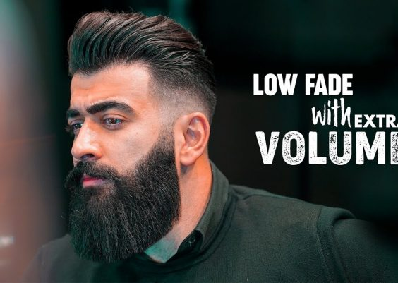 Low fade & Slicked back with Volume. Men´s hairstyle inspiration 2019 14