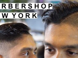 Mens Hairstyles 2018 | Clean Fade & Hard Part | New York City Barbershop 13
