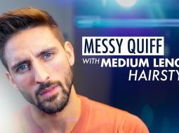 Messy Quiff. Medium length hairstyle. Men´s hairstyle inspiration 2019 12
