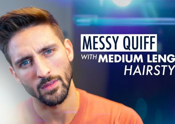Messy Quiff. Medium length hairstyle. Men´s hairstyle inspiration 2019 14