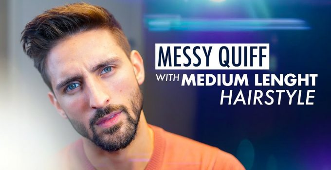 Messy Quiff. Medium length hairstyle. Men´s hairstyle inspiration 2019 8