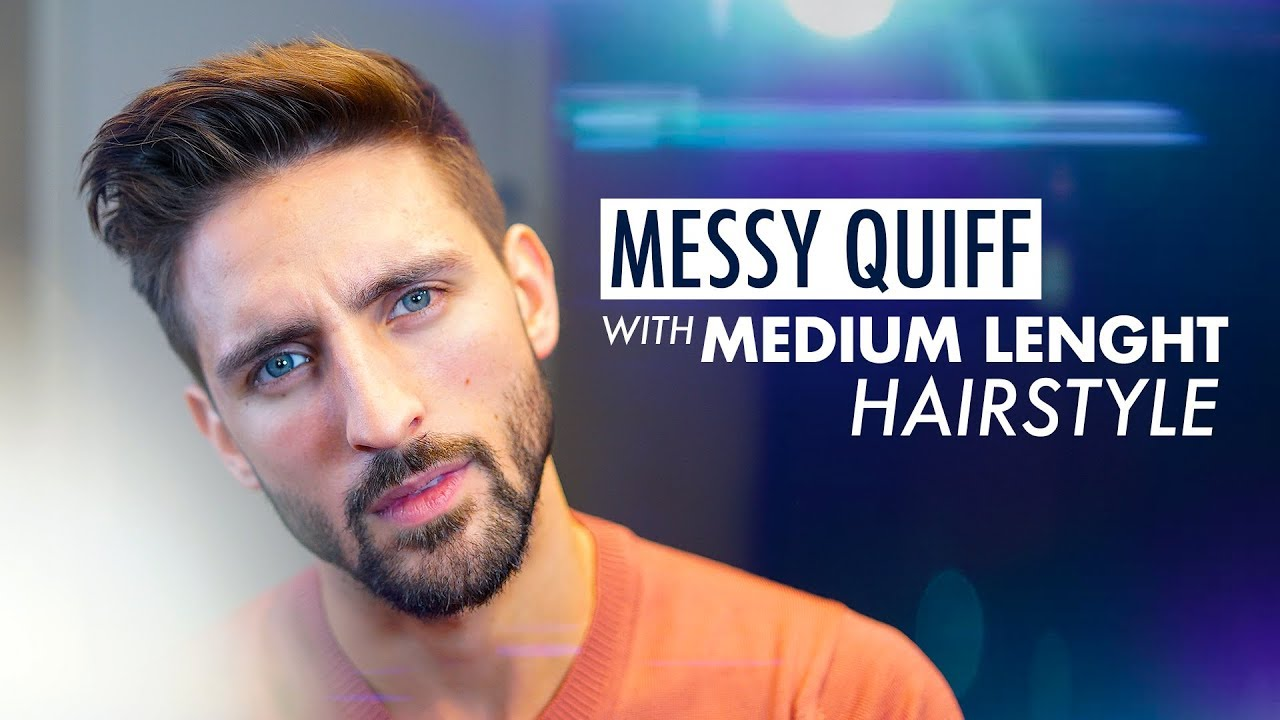 Messy Quiff Medium Length Hairstyle Mens Hairstyle Inspiration