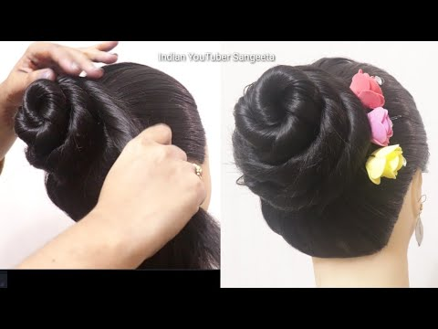 Party juda hairstyle || hair style girl || juda hairstyle || wedding hairstyle || hairstyle 4