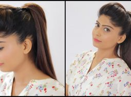 Perfect Ponytail Hairstyle | Easy Ponytail | Rinkal Soni 12