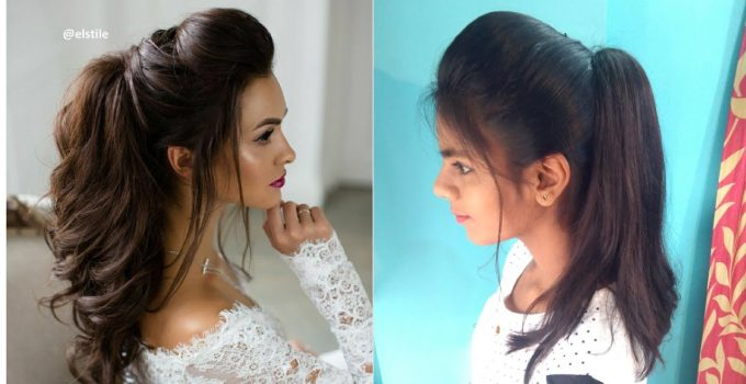 The Perfect High Ponytail with Puff | Messy Ponytail | No Teasing, No Hairspray | Indian Hairstyles 9