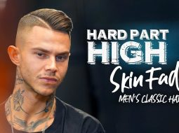 High fade. Hard part. Men´s hairstyle inspiration 17