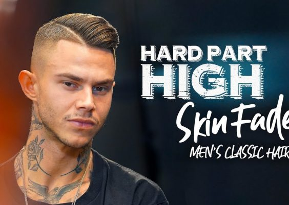 High fade. Hard part. Men´s hairstyle inspiration 14