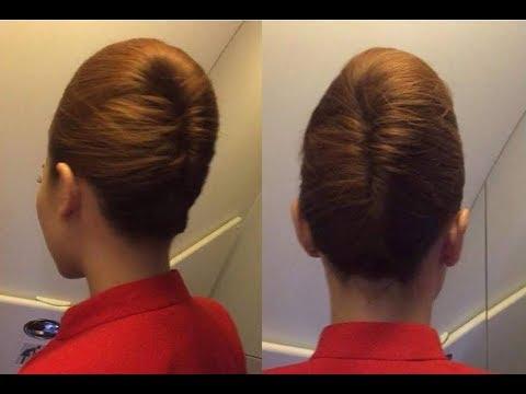 Beautiful, berbagai sanggul cantik ala pramugari, mudah & simple - Flight Attendant Hairstyles 1
