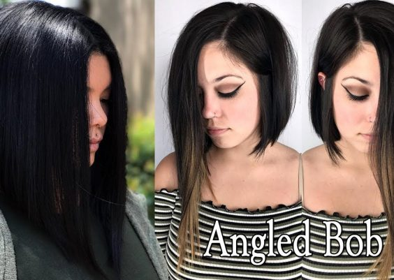 LONG ANGLED BOB HAIRCUTS FOR WOMEN - LONG ANGLED BOB HAIRSTYLES and LONG BOB HAIRCUT 15