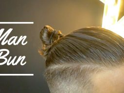 Men's Hairstyles - How to make a Man Bun - MAN BUN TUTORIAL 8